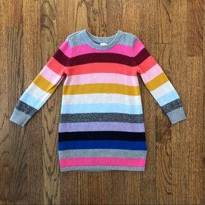 GAP Crazy Stripe Rainbow Sweater Dress